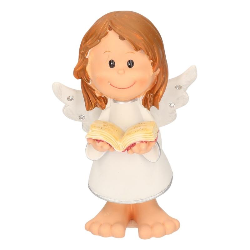 Kerst engel met boekje 10 cm verkrijbaar bij Warenhuis-shop.nl